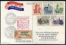 Niederlande Sommermarken 1951 Ersttagsbrief auf Philips-Flugpost (S7554)