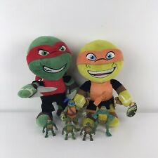 Nickelodeon Teenage Mutant Ninja Turtles Raphael Michelangelo Felpa Con Figuras
