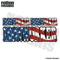"Ironworker American Flag 6"" Decal Sticker Pack USA United States Hard Hat ZU1"