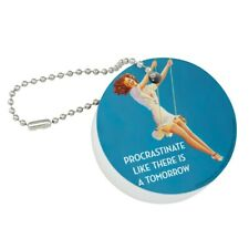 Procrastinate Like There is a Tomorrow Floating Keychain Round