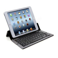 Foldable Cordless Bluetooth Wireless Keyboard for Tablet Phone Aluminum Stand