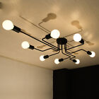 Black Pendant Lighting Flush Mount Ceiling Lights Large Chandelier Bar LED Lamp