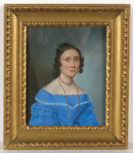 "Karl Wilhelm Bardou (d. after 1842) ""Female portrait"", pastel, 1840"