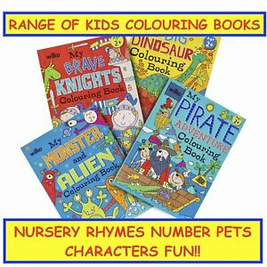 Childrens Kids Nursery Rhyme 123 ABC Pets Character Fun Activity Learning Books