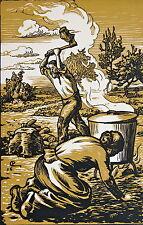 COLIN PAUL, Les Philippe, de Jules Renard, bois de Colin, pages specimens, 2 feu