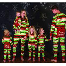 Xmas Kids Adult Family Matching Christmas Pajamas Sleepwear Nightwear Jumpsuit