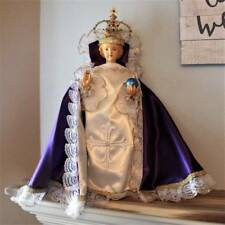 Jesus Statue Infant of Prague 25 inch Handpainted Plaster Handmade Jeweled Crown