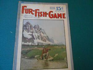 VINTAGE FUR FISH GAME MAGAZINE JULY 1937  KERMIT STEARNS