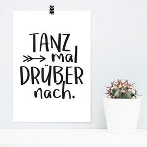 "JUNIWORDS Poster ""Tanz mal drüber nach"" Geschenk Geburtstag DIN A4 A3 A2 A1"