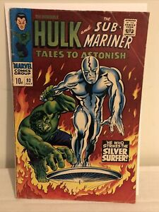 Tales To Astonish 93 Vg/fine 5.0 Iconic Silver Surfer Cover