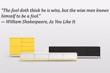 Vinyl Wall Decal Sticker Room Saings Quotes Motivation William Shakespeare F2009