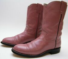 WOMENS COWTOWN PINK LEATHER ROPER COWBOY WESTERN BOOTS SZ 5.5~1/2 M