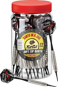 Fat Cat Darts in a Jar: Soft Tip Darts with Storage/Travel Container, 17 Gram