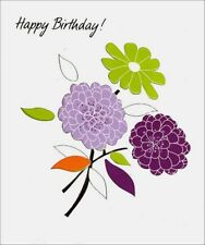 Three Flowers Birthday Card - Greeting Card by Freedom Greetings