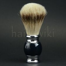 Deluxe Silvertip Badger Hair Shaving Brush Dark Blue Handle Men Shave Razor Tool