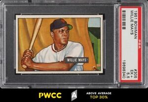 1951 Bowman Willie Mays ROOKIE RC #305 PSA 5.5 EX+ (PWCC-A)