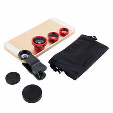 3in1 Fish Eye + Wide Angle Micro Lens Camera Kit for iPhone6/Plus 5S/5 i9300 Red