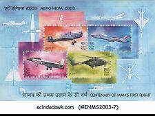 INDIA - 2003 AERO INDIA 2003 / AVIATION - MINIATURE SHEET MNH