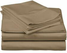 100% Cotton - (Attached Waterbed Sheet Set) 1000 TC All Size Taupe Solid