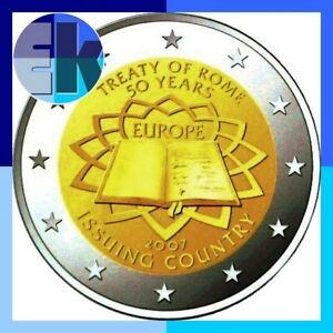 Ek // 2 euro Commémorative 2007 Traité de Rome  # Pièce Nueve: Sélectionnez Pays