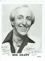 Bob Grant  Actor On the Buses  Hand Signed Vintage Photograph 10 x 8