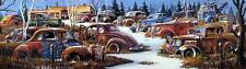 "Dale Klee ""Winter Junkyard Signed and Numbered 34"" x 11"""