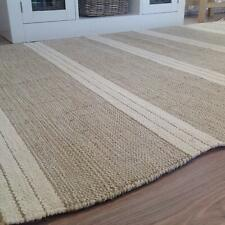 Second Nature Online Reteela Beige White Stripe  Rug  Small Medium Large