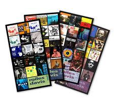 "MILES DAVIS quad (4) pack discography magnet lot (four 4.75"" x 3.75"" magnets)"