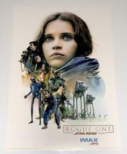 Star Wars Rogue One (2016) Promo AMC IMAX Exclusive Poster Jyn Erso Style