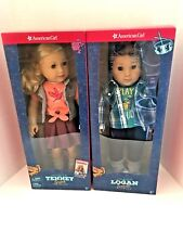 American Girl Tenney & Logan 18-inch Dolls  NEW in AG Boxes  NO X