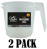 2 Pack 1 Litre Measuring Jug Kitchen Clear Cooking Lightweight Durable Liquid 1L