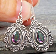 *Clearance* 925 Silver MYSTIC TOPAZ Earrings E020~Silverwave*uk Jewellery