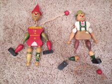 VINTAGE WOODEN TOYS -- 2 PEOPLE