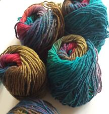 Noro Kureyon Yarn 100% Wool Discontinued 184 Pink Teal Purple Aqua Worsted Lot 5