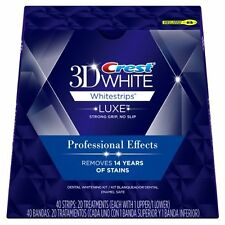 CREST 3D Whitestrips LUXE Professional Effects 20 Pouches / 40 Strips NEW