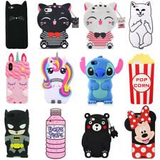 For Samsung Galaxy Phone Case Cover 3D Cute Cartoon Animals Soft Silicone Back