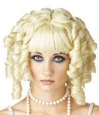 Ladies Blonde Ghost Doll Ringlet Halloween Fancy Dress One Size Wig