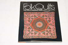 Quilt Pattern Book - Folk Quilts & How to Recreate Them - NOS 1983 1st Edition