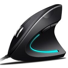 LED Wire Vertical Ergonomic Working USB Optical Mouse 3200 DPI 6 Buttons For PC