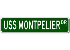 USS MONTPELIER SSN 765 Street Sign - Navy