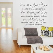 Motivation Wall Decal For Beautiful Eyes Girl Room Hepburn Quote Vinyl Art Decor