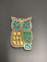 Vintage Cast Iron MCM Trivett Decor Owl Hot Pot Plate Holder