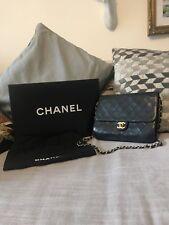 Vintage Chanel Quilted Black Leather Bag, Single Flap