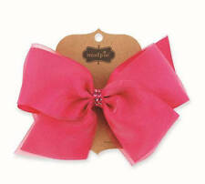 "Mud Pie Pink Organza and Grosgrain Bow 4"" x 7"" - DISCONTINUED"