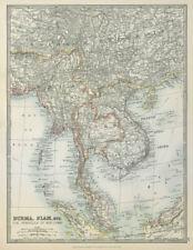 INDOCHINA. Siam Burma Annam Cambodia Tong King Southern China. JOHNSTON 1915 map