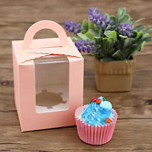 Cupcake Favour Boxes Bomboniere Wedding Birthday Gift Box Baby Shower 10x