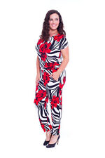 Machine Washable Floral Plus Size Jumpsuits, Rompers & Playsuits for Women