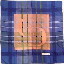 CHRISTIAN DIOR Authentique foulard 100% soie vintage Scarf 20df56d1e6d
