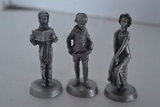 Vintage Metal Pewter Norman Rockwell Dave Grossman Lot of 3 Figurines lot2