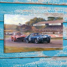 Stirling Moss Ferrari 250 SWB Painting Room Wall Art Decor Print on Canvas 16x24